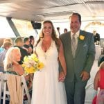 wedding ceremony aboard the skyline princess