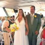 wedding ceremony aboard the skyline princess