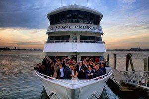 Wedding reception cruise around New York City