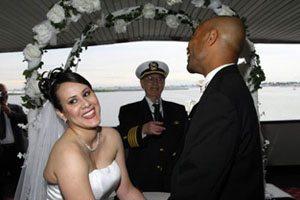 New York City wedding cruise ceremony
