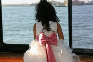 Flower Girl at a Wedding Cruise from Skyline Cruises