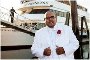 Groom Wedding on the Skyline Princess Cruises