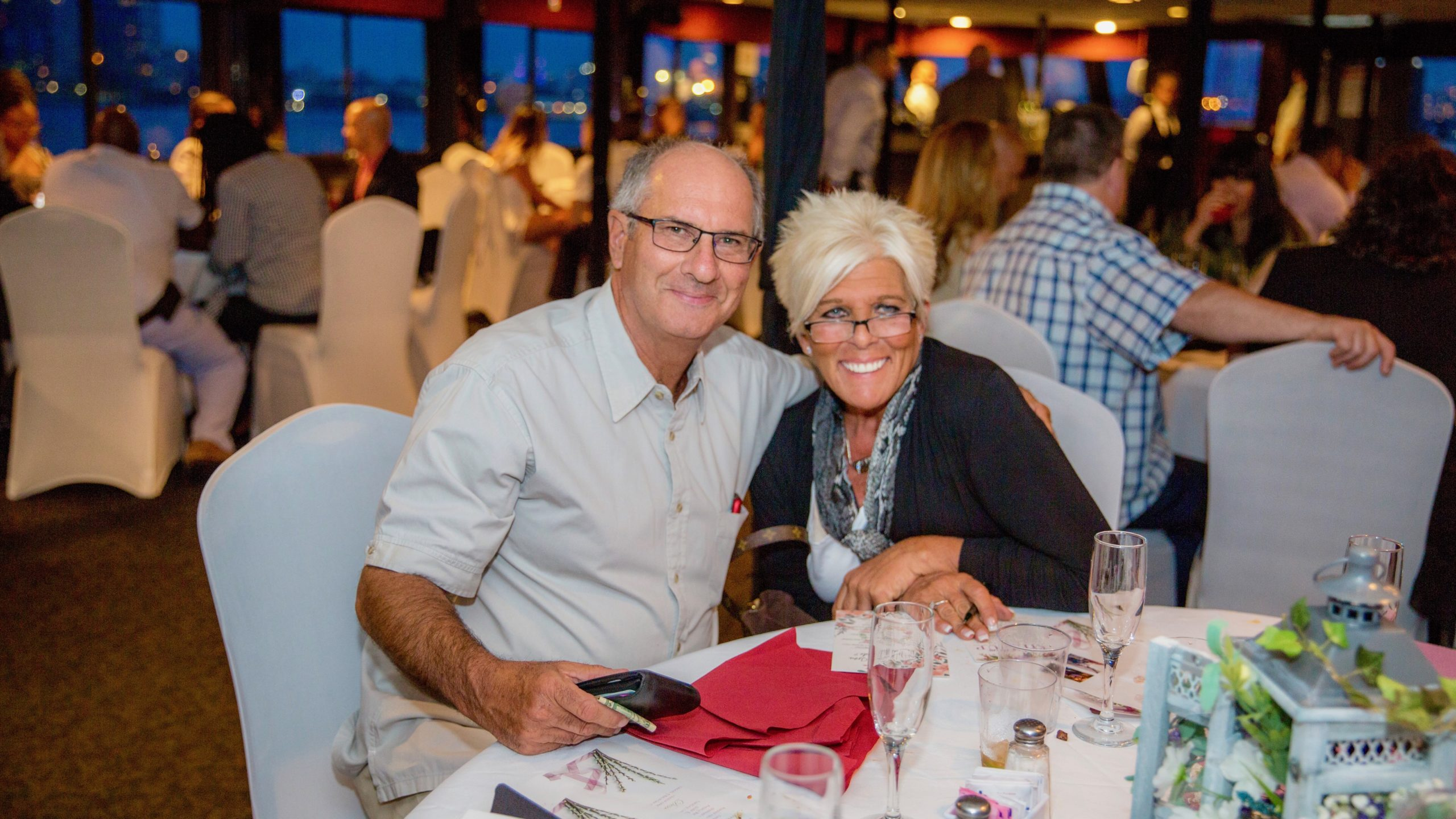 couple aboard dinner cruise