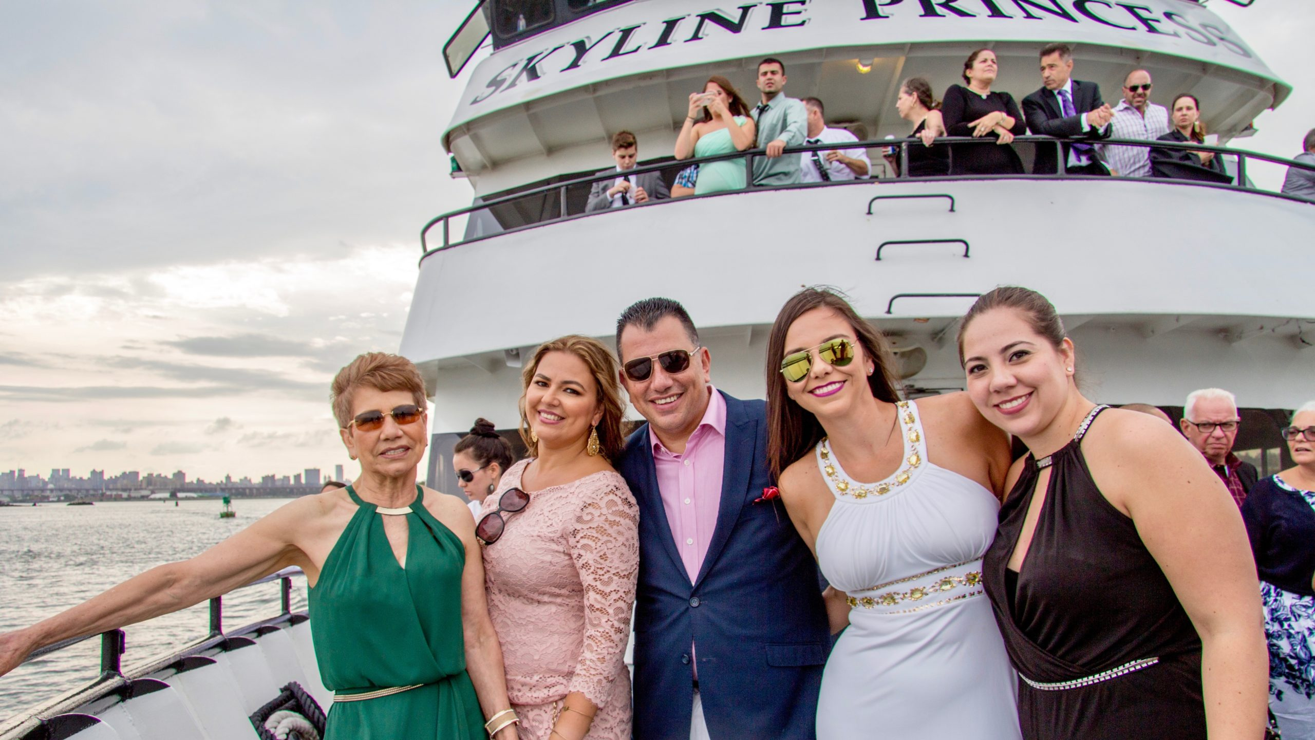 group photo aboard skyline princess