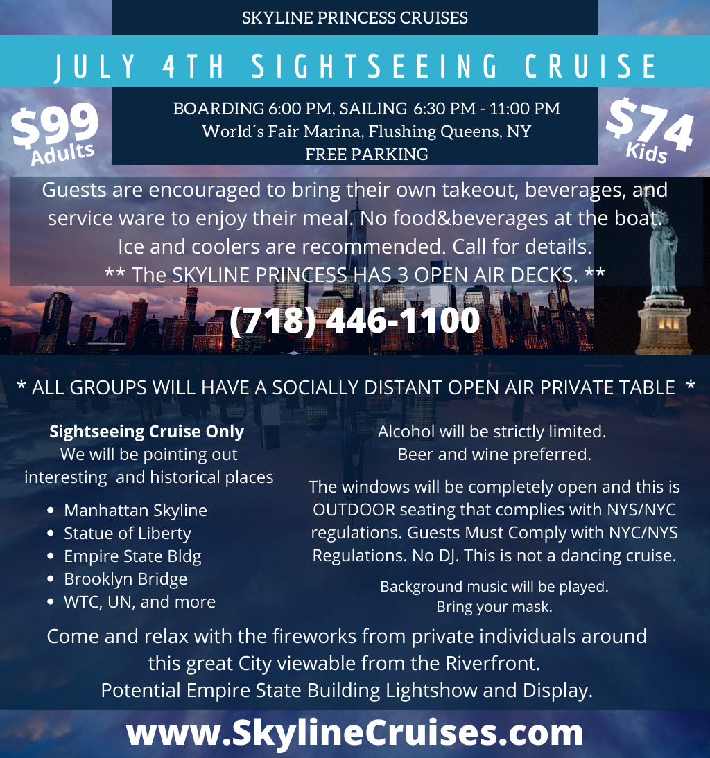 July 4th 2020 Cruise Information